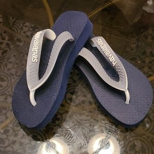 Size 7 toddler Havana as navy and gray